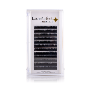 Russian Lashes Mixed Tray - C Curl, 0.03