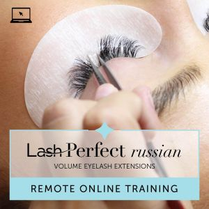 Lash Perfect Russian Volume Eyelash Extensions Remote Training with Starter Kit