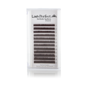 British Mink Lashes - Brown, C Curl, 0.07