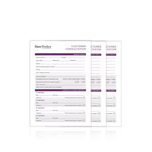 Customer Consultation Cards